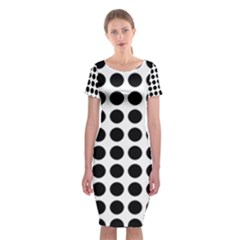 Pattern Dots Grid Circle Creative Classic Short Sleeve Midi Dress