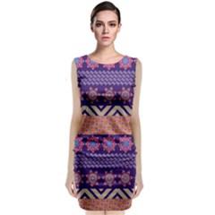 Colorful Winter Pattern Classic Sleeveless Midi Dress