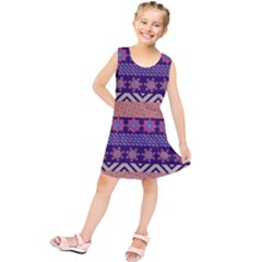 Colorful Winter Pattern Kids  Tunic Dress