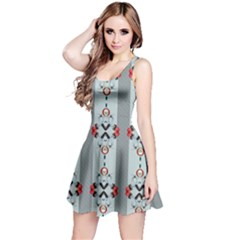Pattern Retro Halloween Design Reversible Sleeveless Dress