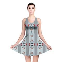 Pattern Retro Halloween Design Reversible Skater Dress