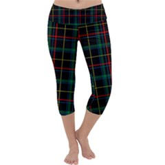 Plaid Shapes Square Capri Yoga Leggings