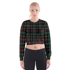 Plaid Shapes Square Women s Cropped Sweatshirt