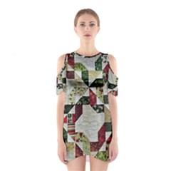 Prize Winning Quilt  Cutout Shoulder Dress