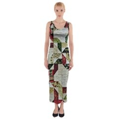 Prize Winning Quilt  Fitted Maxi Dress