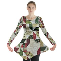 Prize Winning Quilt  Long Sleeve Tunic