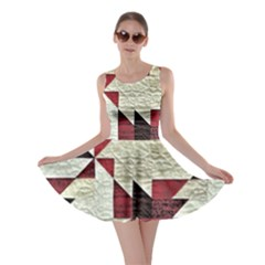 Prize Winning Quilt Triangle Design Skater Dress