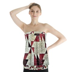 Prize Winning Quilt Triangle Design Strapless Top