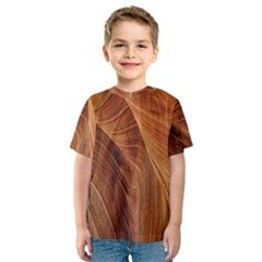 Sandstone The Wave Rock Nature Kids  Sport Mesh Tee