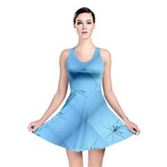 Spider Pattern Reversible Skater Dress