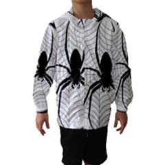 Spider Web Spider Web Insect Hooded Wind Breaker (Kids)