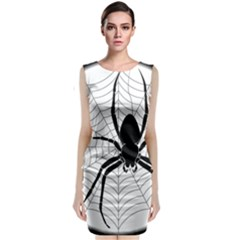 Spider Web Spider Web Insect Classic Sleeveless Midi Dress