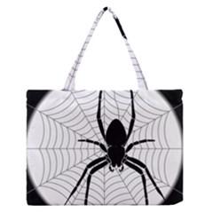 Spider Web Spider Web Insect Medium Zipper Tote Bag