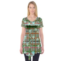 Textile Design Short Sleeve Tunic