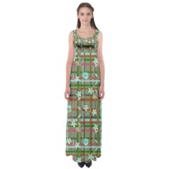 Textile Design Empire Waist Maxi Dress