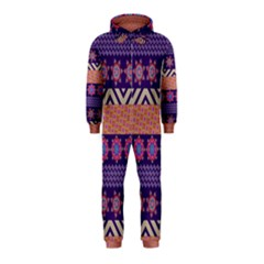 Colorful Winter Pattern Hooded Jumpsuit (Kids)