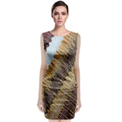 Texture Fabric Fabric Texture Classic Sleeveless Midi Dress