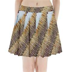 Texture Fabric Fabric Texture Pleated Mini Skirt