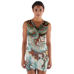 Texture Fabric Pattern Knitted Wear Wrap Front Bodycon Dress