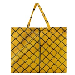 The Fence  Zipper Large Tote Bag