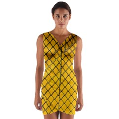 The Fence  Wrap Front Bodycon Dress