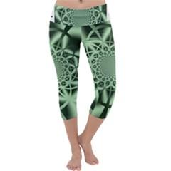 Wave Pattern Capri Yoga Leggings