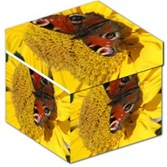 Yellow Butterfly Insect Closeup Storage Stool 12