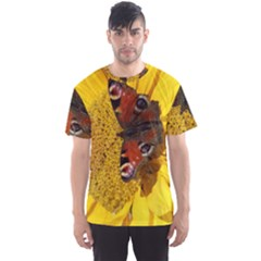 Yellow Butterfly Insect Closeup Men s Sport Mesh Tee