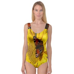 Yellow Butterfly Insect Closeup Princess Tank Leotard