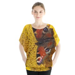 Yellow Butterfly Insect Closeup Blouse