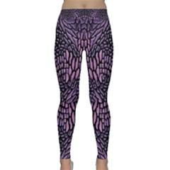 Pink Reptile Yoga Leggings
