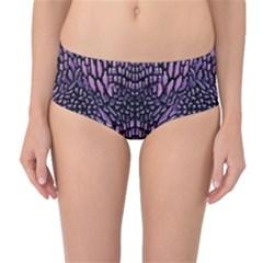 Pink Reptile Mid Waist Bikini Bottoms
