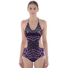 PINK REPTILE Cut-Out One Piece Swimsuit