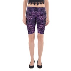 PINK REPTILE Yoga Cropped Leggings
