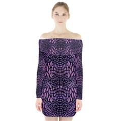 PINK REPTILE Long Sleeve Off Shoulder Dress