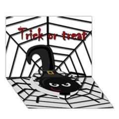 Halloween cute spider Circle Bottom 3D Greeting Card (7x5)