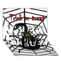 Halloween cute spider YOU ARE INVITED 3D Greeting Card (7x5)