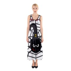 Halloween cute spider Sleeveless Maxi Dress