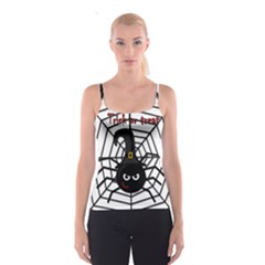 Halloween cute spider Spaghetti Strap Top