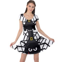 Halloween cute spider Cap Sleeve Dresses