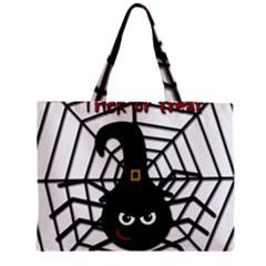 Halloween cute spider Medium Zipper Tote Bag