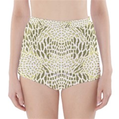 Albino Reptile High Waisted Bikini Bottoms