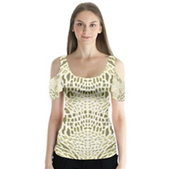 ALBINO REPTILE Butterfly Sleeve Cutout Tee