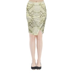 Albino Reptile Midi Wrap Pencil Skirt