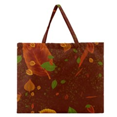 Autumn 01 Zipper Large Tote Bag