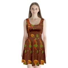 Autumn 01 Split Back Mini Dress