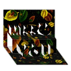 Autumn 03 Miss You 3d Greeting Card (7x5)