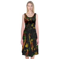 Autumn 03 Midi Sleeveless Dress