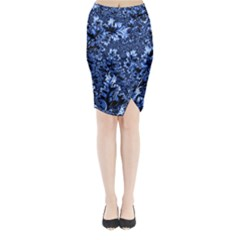 Amazing Fractal 31 D Midi Wrap Pencil Skirt