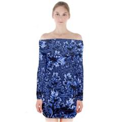 Amazing Fractal 31 D Long Sleeve Off Shoulder Dress
